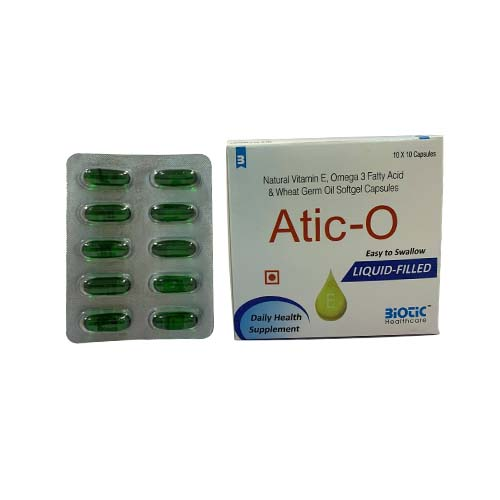 Atic-O Softgel Capsules- Daily Health Supplement